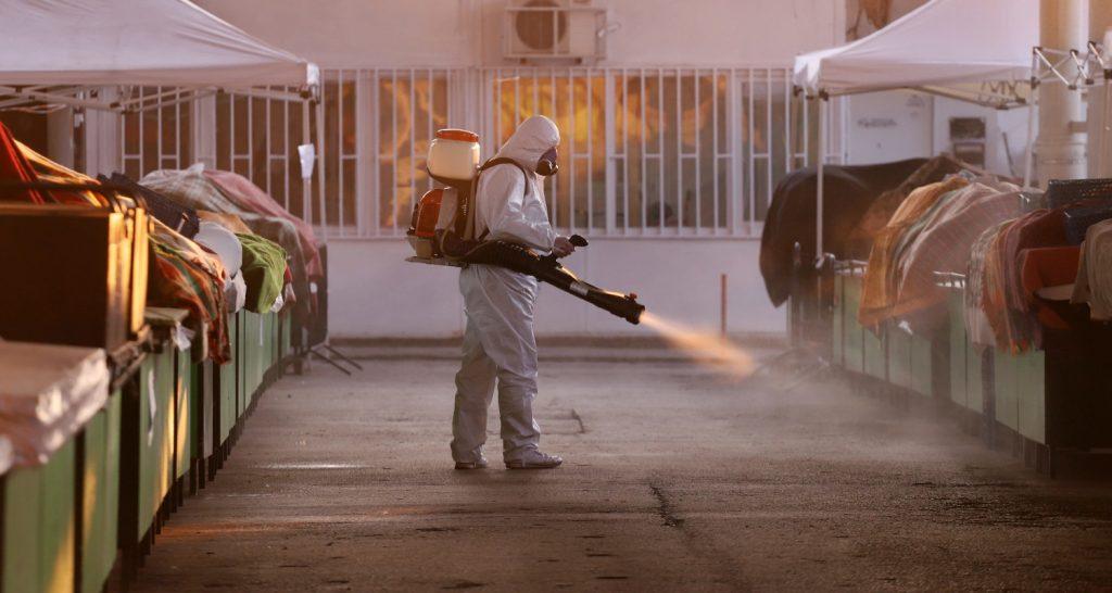 Desinfección con atomizador | Exprodim